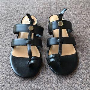 Nine West black sandals size 6